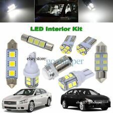 12x white LED Map Dome interior package kit lights fit 2009-2014 Nissan Maxima