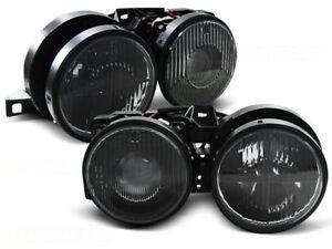 HEADLIGHTS LHD / RHD LPBMA7 BMW 3 SERIES E30 1982-1990 1991 1992 1993 1994 BLACK