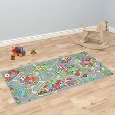vidaXL Play Mat Loop Pile 190x290cm City Road Pattern Kids Children Carpet Rug