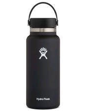 Hydro Flask Water Bottle - Vacuum Insulated - Wide Mouth 2.0 - 32 oz, Black