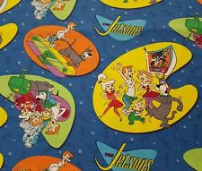 The Jetsons Bty Quilting Treasures Hanna-Barbera Blue