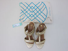 Stitch Fix BC Footwear Thrilled T Strap Wedge Shoes - Womens 9 - Gold - New