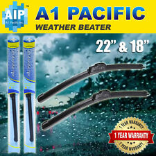 "All season Bracketless J-HOOK Windshield Wiper Blades OEM QUALITY 22"" & 18"""