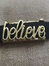 Believe Slide Charm (Gold) fits Keep Collective
