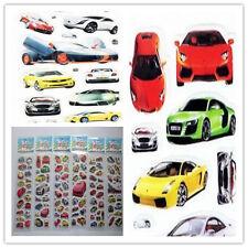 New 6pcs 3D Car Wall Stickers Scrapbooking Stikcers Kids Crafts Reward Xmas Gift