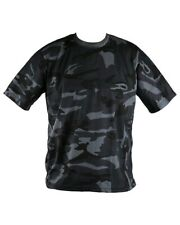 Mens Army Camouflage / military camo combat T Shirt - Midnight Blue