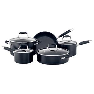 Anolon Advanced+ 5 Piece Cookware Set Black Hard Anodised Induction Non Stick