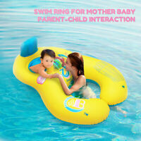 Inflatable Swimming Ring Mother & Baby Soft Swim Float Ring Raft Chair Seat Pool