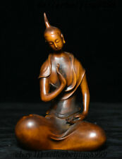 001 China Old Boxwood Wood Carving Beautiful Woman Beauty Belle Femme Statue