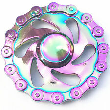 Bicycle Chain Style Hand Spinner Fidget Finger Fingertip Gyro Toy EDC Rainbow