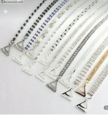 DECORATIVE STUNNING DIAMANTE CRYSTAL PAIR  ADJUSTABLE  BRA STRAPS UK SELLER