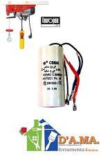 Condensatore a 3 fili ricambio paranco l'europea tiratutto 200 kg 22 mf + 6 mf
