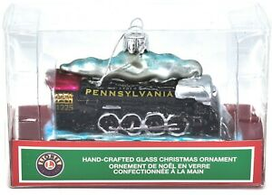 Kurt S Adler Lionel Pennsylvania Train #1225 Hand-Crafted Glass Ornament LN4192