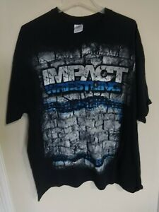 EUC Vintage TNA Impact Wrestling Men 2XL T-Shirt Free Ship