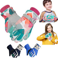 Kids Boys Girls Winter Warm Gloves Ski Windproof Thermal Snow Outdoor Mittens US
