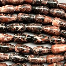 Chocolate Vein Marble 19x10mm Teardrop Semi Precious Stone Q20 Beads per Pkg