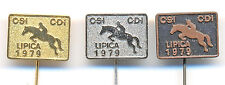 EQUESTRIAN Competition 1979  LIPICA - International dressage event, horses pins