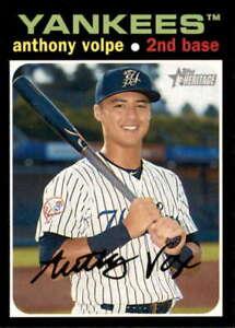 2020 Topps Heritage Minors #87 Anthony Volpe  Pulaski Yankees Baseball