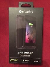 NEW Original Mophie Juice Pack Air Battery Wireless Case iPhone 7 Color Black