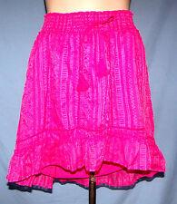Aeropostale Fully Lined Bias Cut Hem Mini Skirt Size Small (4/6) Elastic Waistba