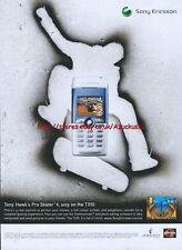 "Sony Ericsson ""Tony Hawks Pro Skater 4"" 2003 Magazine Advert #150"