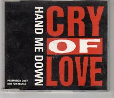 (HI855) Hand Me Down, Cry Of Love - 1993 DJ CD