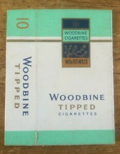 Vintage Wills Woodbine Tipped Cigarette Packet 10 Size