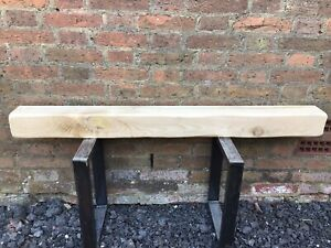 Hard Wood Beam 4ft 4x4 Clear Wax Mantle & Concealed fixings included #beamJ