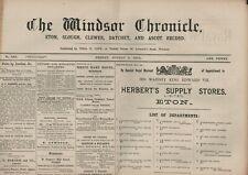 More details for windsor chronicle august 5th 1904 eton slough datchet antique newspaper hl1.2033