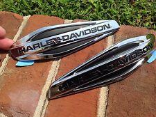 Oem Genuine Harley Emblems Dyna FLD Fatboy Gas Fuel Tank Emblems Set OEM