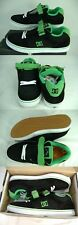 New Mens 13 DC Tribe S Suede Black Green Trim Skate Shoes $75