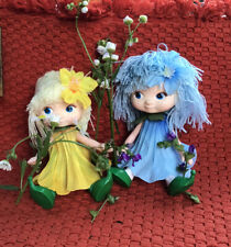 Vintage Plastic Flower Fairies Dolls