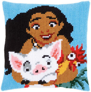 "Moana Chunky Cross Stitch 16 x 16"" Cushion Front Kit from Disney"