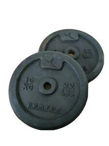 2x 10kg Domyos Weight Plates