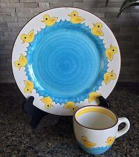 Stangl Little Quackers Kiddie Ware Ducks Plate & Mug