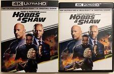 FAST & FURIOUS PRESENTS HOBBS & SHAW 4K ULTRA HD BLU RAY 2 DISC SLIPCOVER SLEEVE