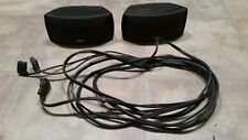 Bose 3-2-1 GS Series I II III Satellite Gemstone Speakers Speaker Pair + Cables