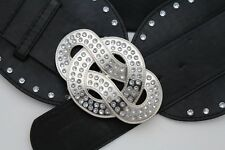 Faux Leather Wide Belts for Women with Diamante for sale   eBay