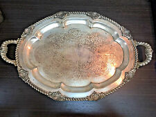 Weidlich Brothers German Silver Plated Double Handle Serving Tray Platter