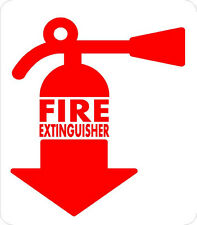 "#606 (2) 2"" Fire Extinguisher Inside DOT sticker Truck Bus Label Decal Sticker"