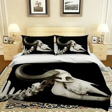 3D White Sheep Bones R640 Animal Bed Pillowcases Quilt Duvet Cover Queen Kay