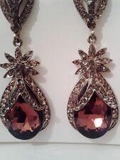 Long dangling Pierced ear rings/diamante/silver/gold