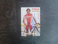 1999 SAECO PRO CYCLING TTEAM CARD SIGNED MASSIMILIANO MORI