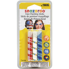 Snazaroo Face Painting Sticks   3-Color Pack Red, White, & Blue