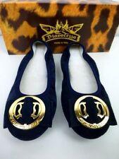 Diavolezza Femmes Chaussures Ballerines 35 36 Bleu Cuir Sauvage Peau Np 159 Neuf