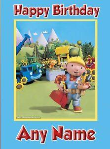 Bob the Builder - Personalised Birthday Card Son Grandson Nephew