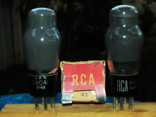 RCA JAN CRC type 41 VT 48 ST shape output pentode strong matched NIB pair tubes