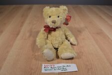 Russ Spencer Tan Bear with Red Bow Beanbag Plush (310-103)