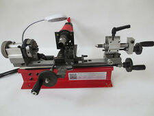 4 Jaw chuck Dual Motor Desktop Mini Lathe Bead Lathe Machine 80mm 50-2500r  220V