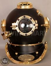 Antique U.S Navy Mark V Divers Diving Helmet Solid Steel & Brass